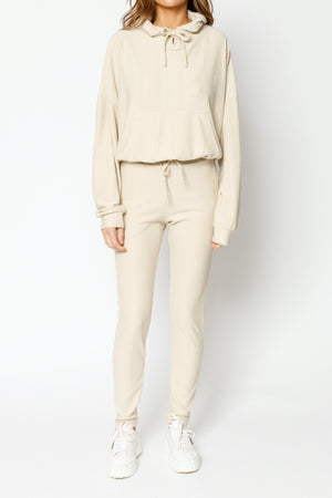 Load image into Gallery viewer, Women's Tan Broad Street Skinny Fit Joggers - P r é v u . S t u d i o .
