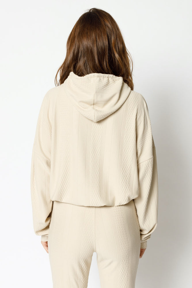 Women's Tan Broad Street Regular Fit Hoodie - P r é v u . S t u d i o .