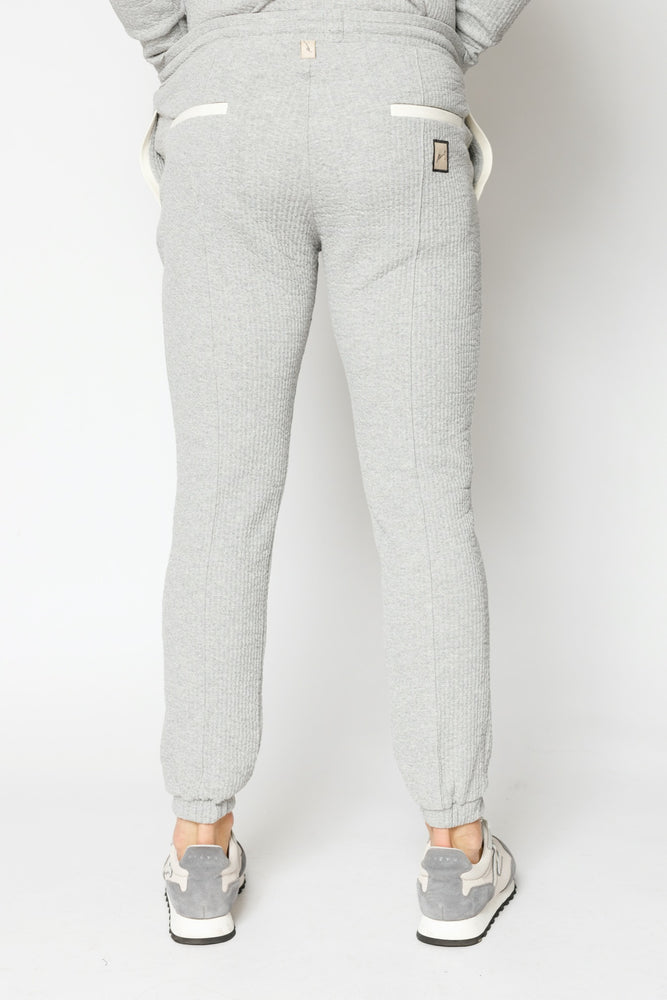 Load image into Gallery viewer, Grey Sandon Textured Slim Fit Joggers - P r é v u . S t u d i o .