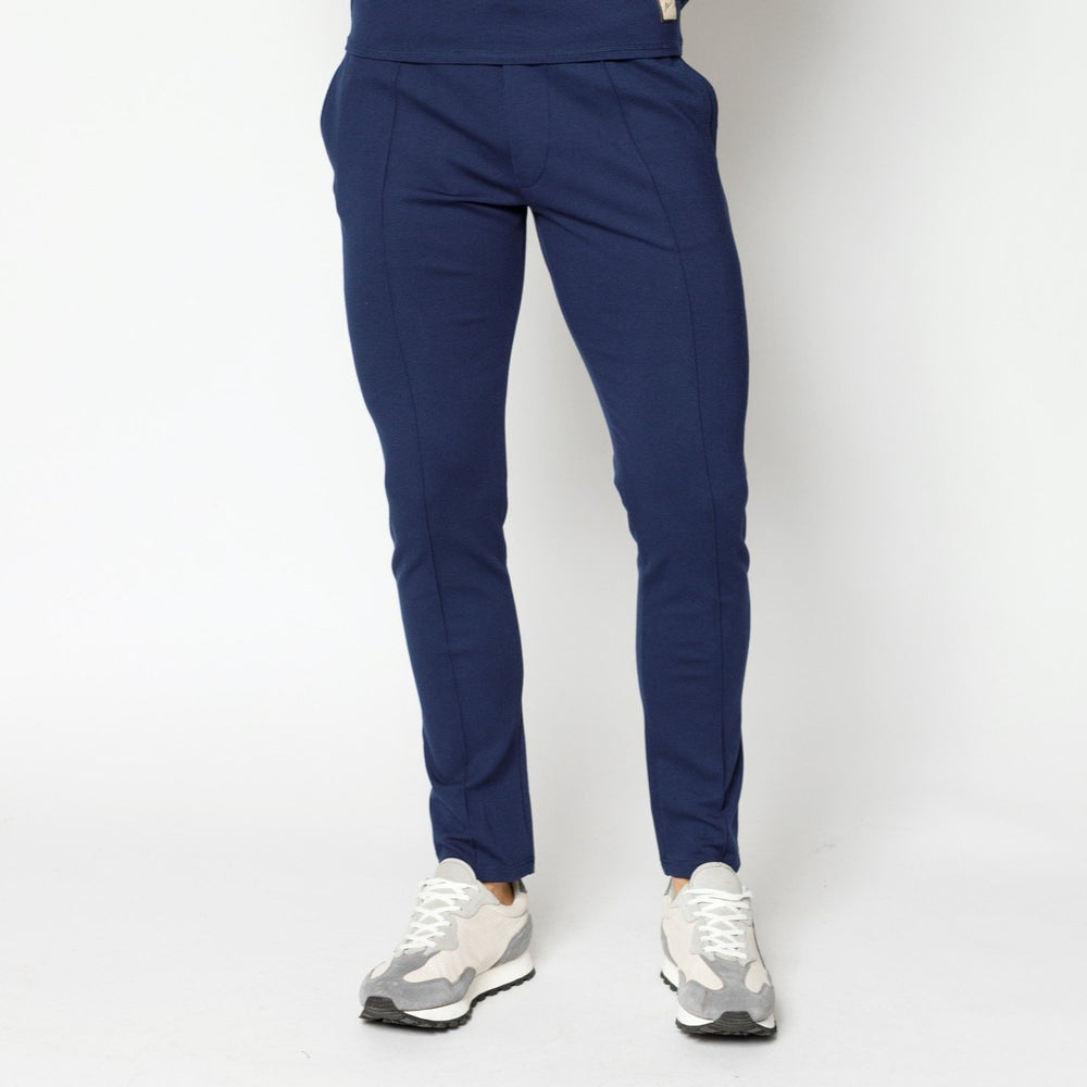 Load image into Gallery viewer, Navy Belmont Slim Fit Joggers - P r é v u . S t u d i o .