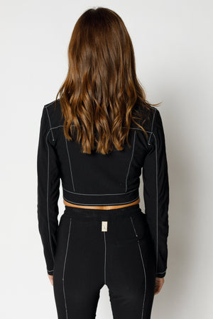 Load image into Gallery viewer, Women's Black Alento Cropped Blazer