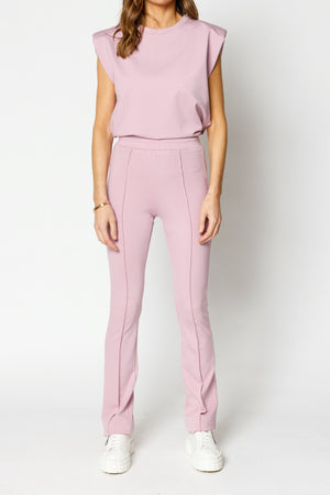 Load image into Gallery viewer, Women's Lilac Aruba Skinny Fit Flared Trousers - P r é v u . S t u d i o .