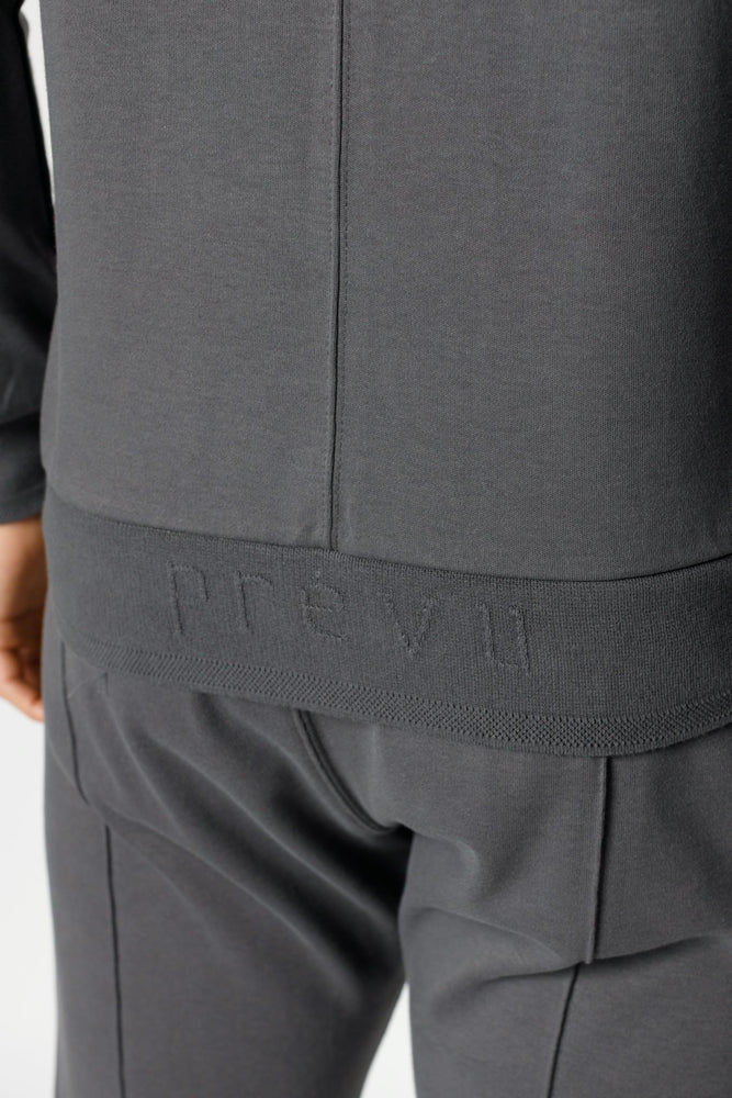 Load image into Gallery viewer, Grey Signature Logo Embroidered Sweatshirt - P r é v u . S t u d i o .
