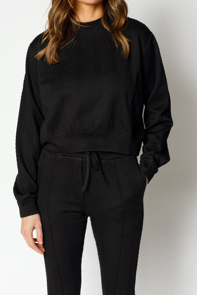 Women's Black Tyburn Regular Fit Sweatshirt - P r é v u . S t u d i o .