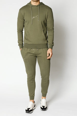 Load image into Gallery viewer, Khaki Signature Logo Slim Fit Jogger - P r é v u . S t u d i o .