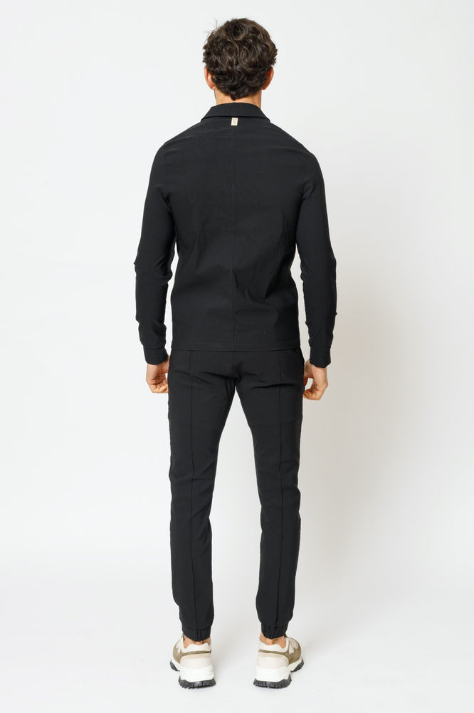 Black Salvatore Slim Fit Trousers - P r é v u . S t u d i o .