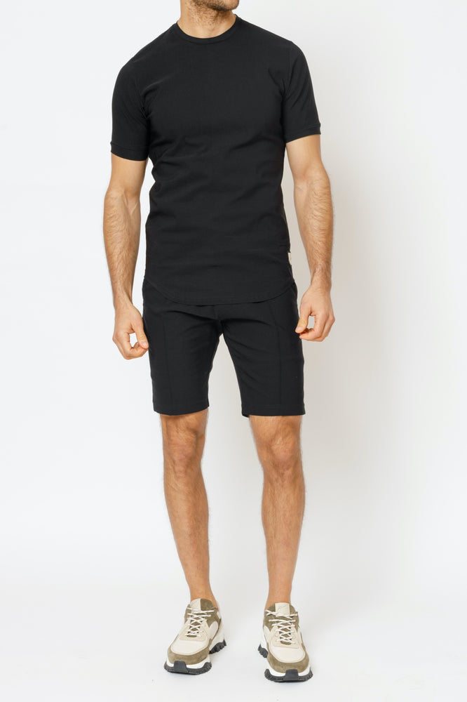 Load image into Gallery viewer, Black Salvatore Slim Fit T-Shirt - P r é v u . S t u d i o .