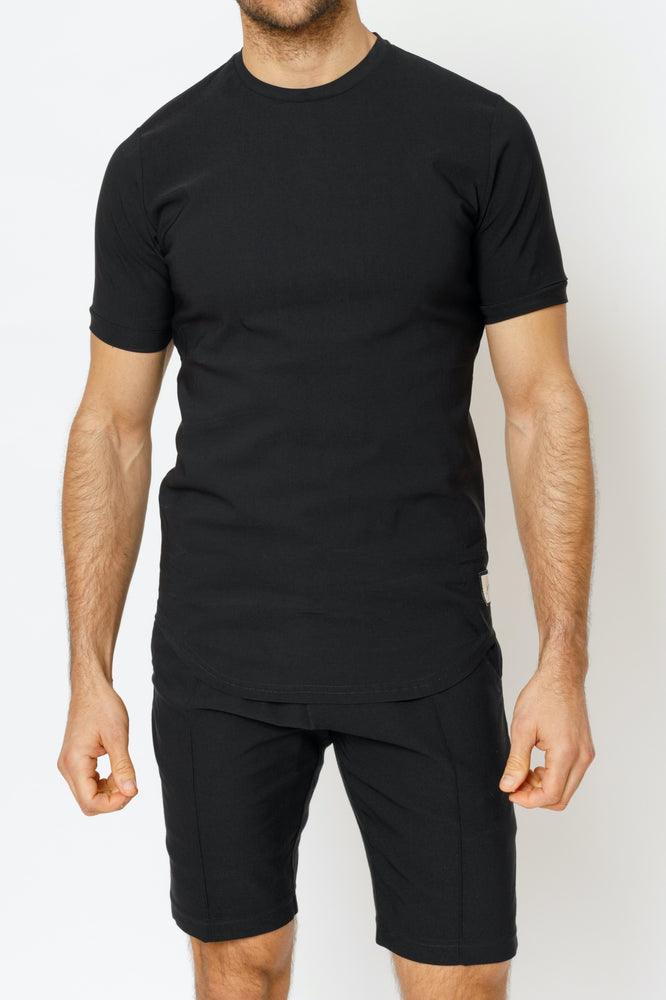 Black Salvatore Slim Fit T-Shirt - P r é v u . S t u d i o .