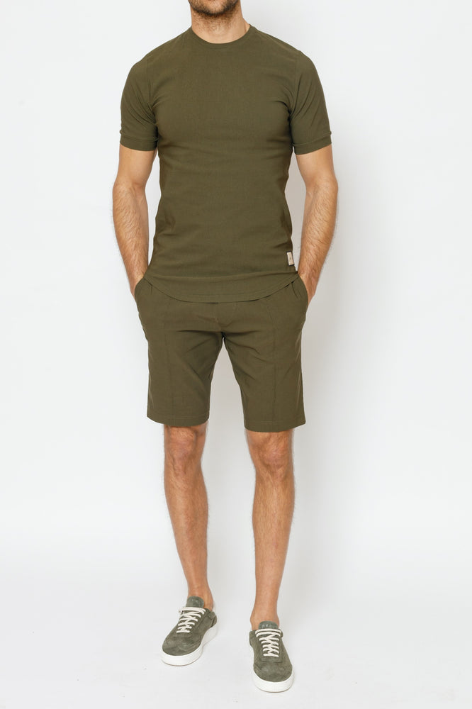 Load image into Gallery viewer, Khaki Salvatore Slim Fit T-shirt - P r é v u . S t u d i o .
