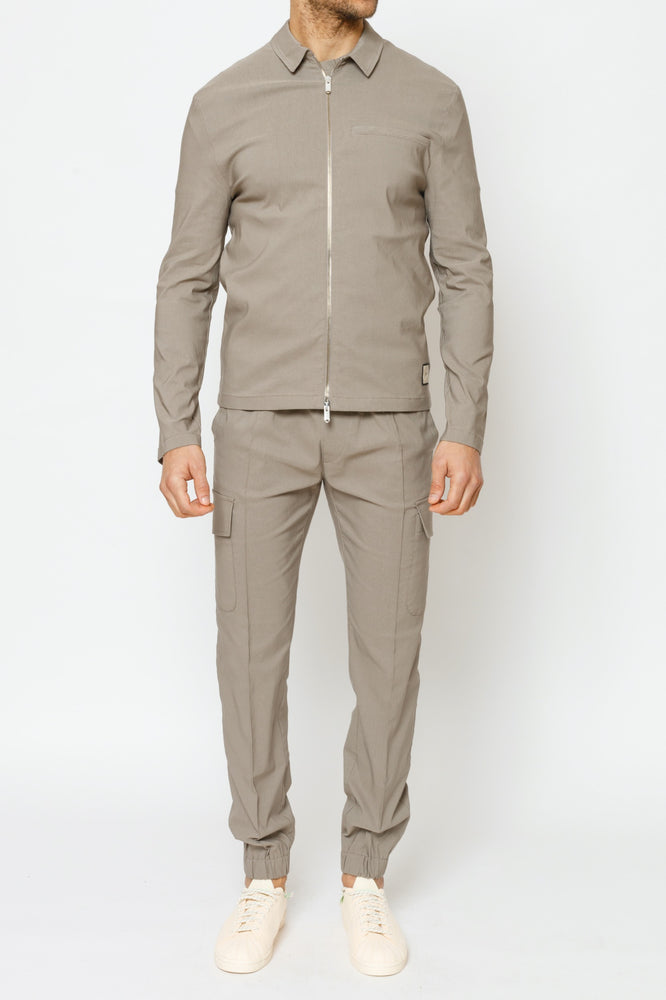 Grey Stone Salvatore Regular Fit Cargo Trousers - P r é v u . S t u d i o .