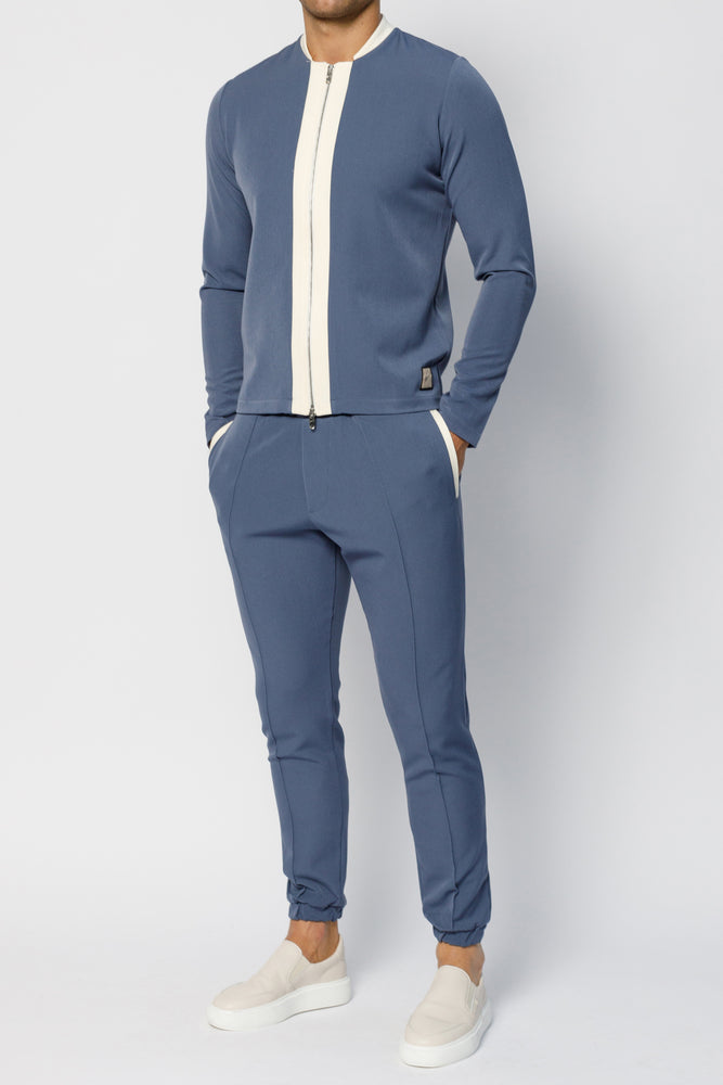 Blue Argenta Slim Fit Trousers