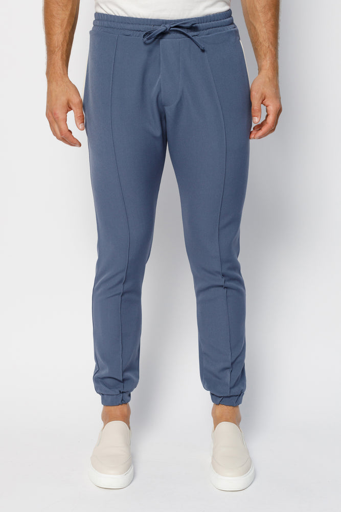 Load image into Gallery viewer, Blue Argenta Slim Fit Trousers - P r é v u . S t u d i o .