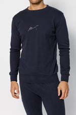 Dark Navy Signature Logo Sweatshirt