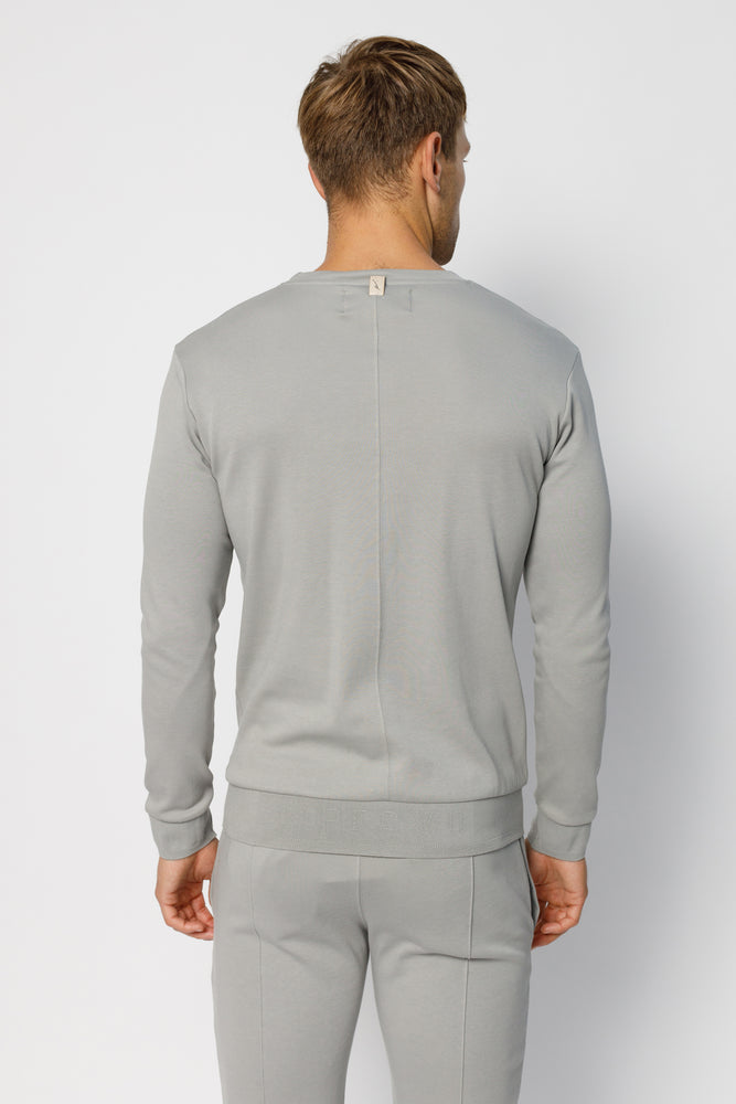 Light Grey Signature Logo Sweatshirt - P r é v u . S t u d i o .