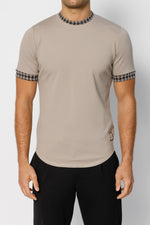 Beige Regent Puppytooth Slim Fit T-shirt