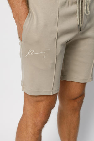 Load image into Gallery viewer, Stone Signature Logo Shorts - P r é v u . S t u d i o .