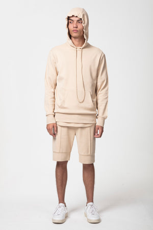 Core Combed Cotton Hoodie Latte