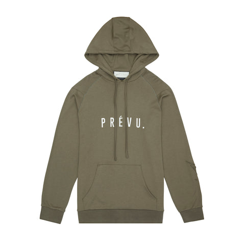 Core Combed Cotton Hoodie / Print - Emb Olive