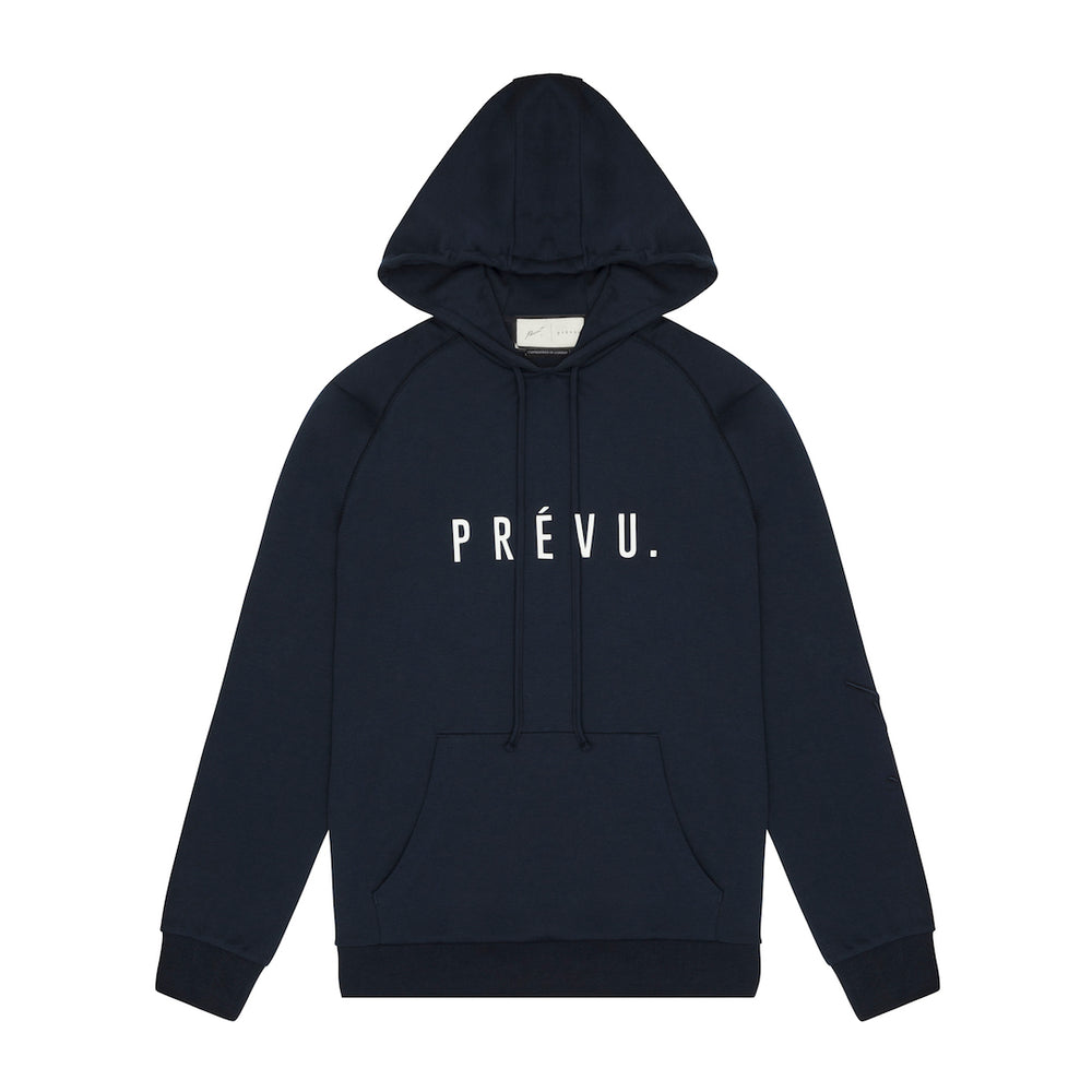Core Combed Cotton Print Hoodie Dark Navy
