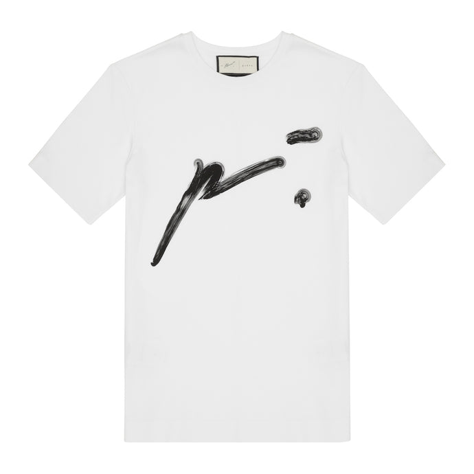 WHITE SIGNATURE P´.TSHIRT WITH SIG STITCH