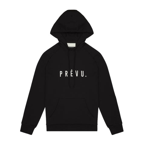 Core Combed Cotton Hoodie / Print - BLACK