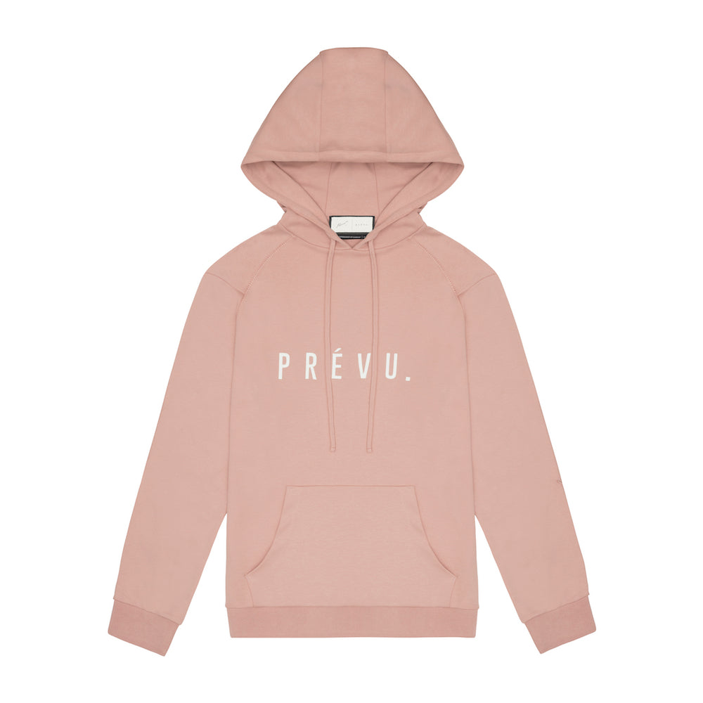 Core Combed Cotton Print Hoodie Blush