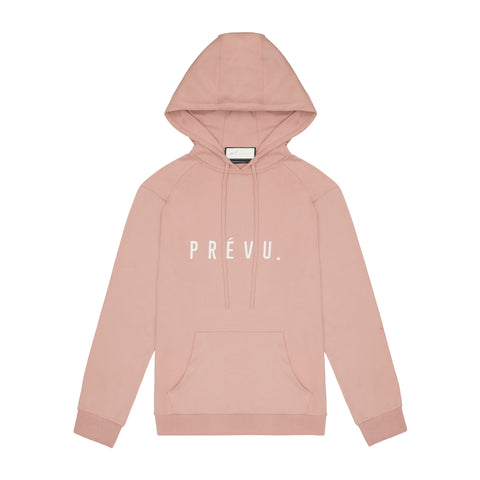 Core Combed Cotton Hoodie / Print - Emb Blush