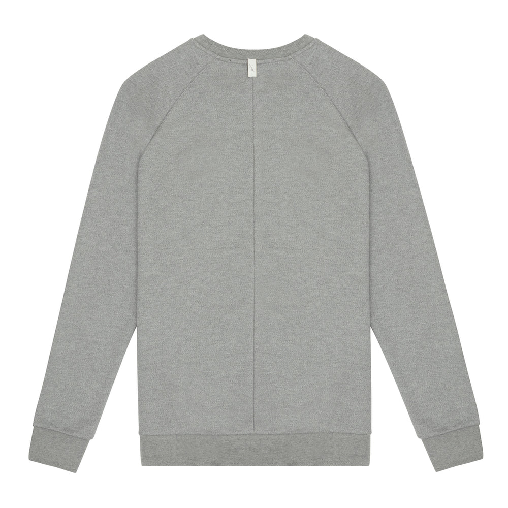 Tech Jersey Embroidered Raglan Sleeve Sweatshirt Grey Marl