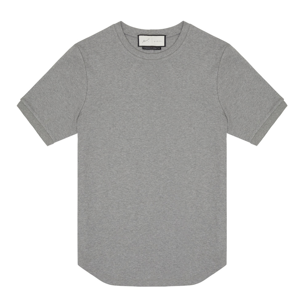 Core Combed Cotton T-Shirt Grey Marl