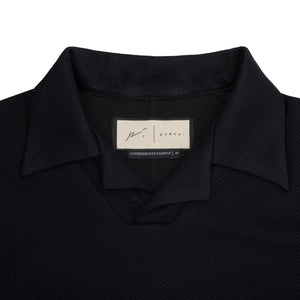 Halftone Polo T-Shirt Twinset Navy & Black