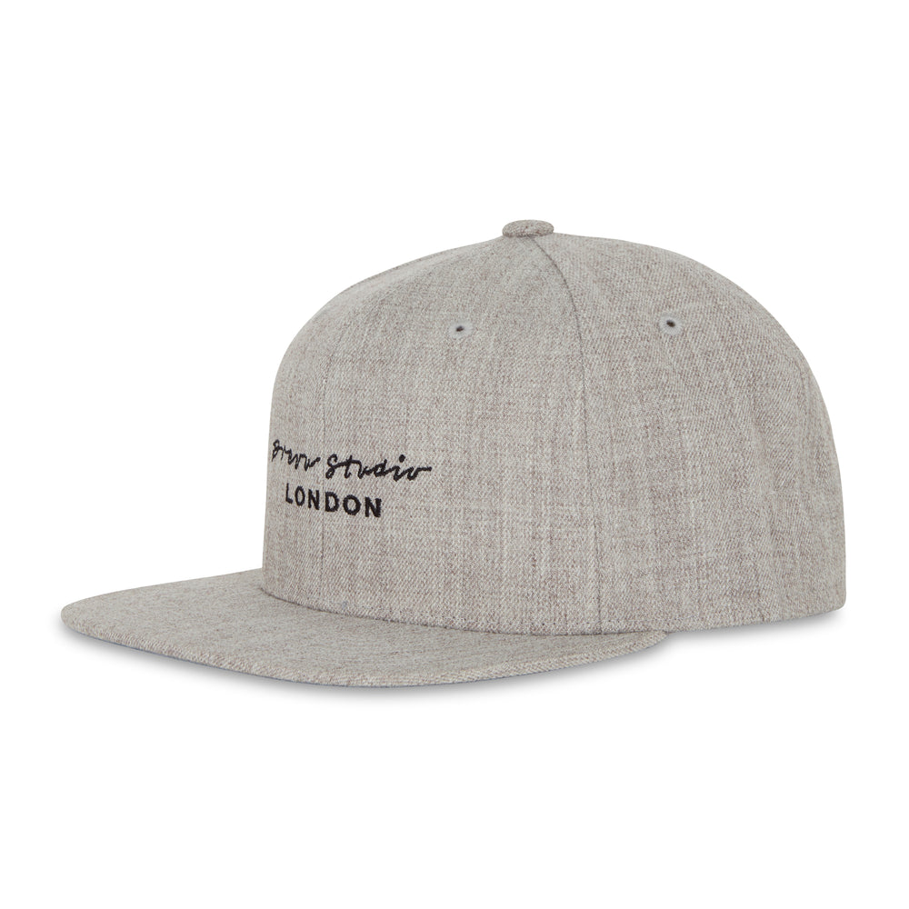 Prévu London Logo Snapback Grey
