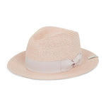 Light Pink Knitted Fedora Hat - P r é v u . S t u d i o .