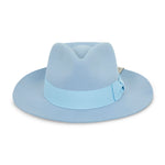 Light Blue Fedora Hat - P r é v u . S t u d i o .