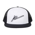 Signature P' Embroidered Mesh Back Cap Black