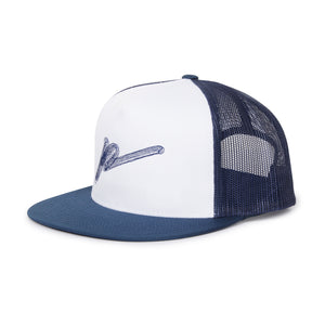 Signature P' Embroidered Mesh Back Cap Navy