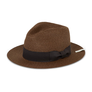 Load image into Gallery viewer, Dark Brown Knitted Fedora Hat - P r é v u . S t u d i o .