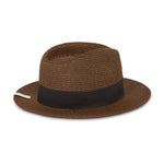 Dark Brown Knitted Fedora Hat - P r é v u . S t u d i o .