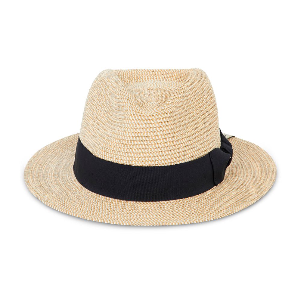 Prévu Knitted Fedora Natural & Black