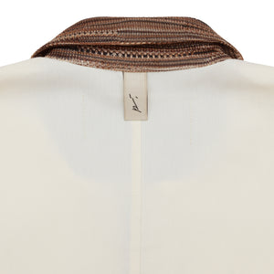Wall Street Contrast Zip Polo Shirt Ivory