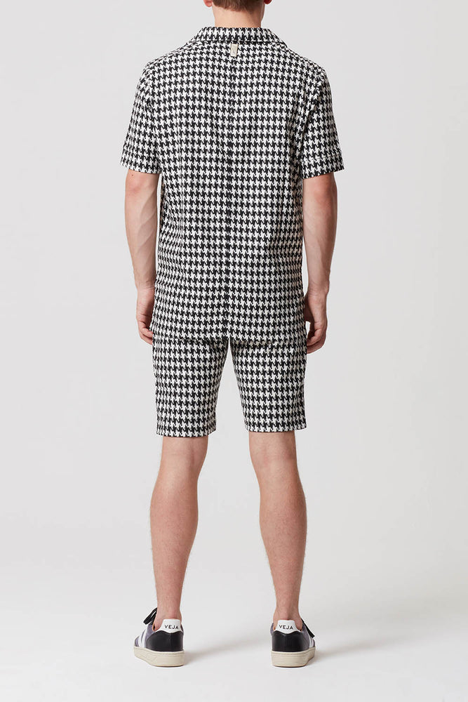 Prévu Dogtooth Check Camp Collar Polo