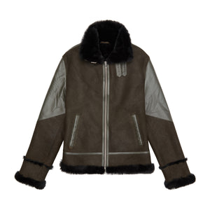 Shearling Jacket Moss Green