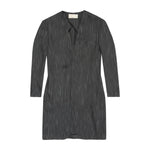 Charcoal Grey Monroe Collarless Overcoat - P r é v u . S t u d i o .