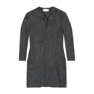 Load image into Gallery viewer, Charcoal Grey Monroe Collarless Overcoat - P r é v u . S t u d i o .