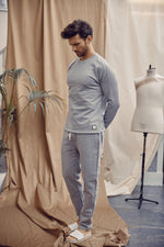 Grey Core Luxe Regular Fit Sweatshirt