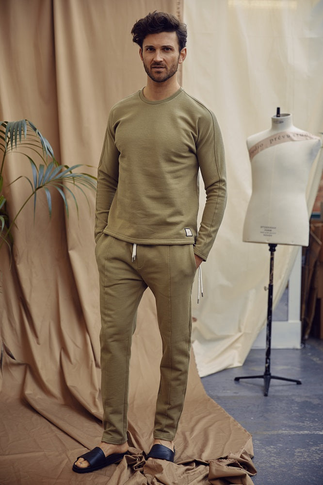 Khaki Core Luxe Regular Fit Sweatshirt