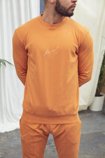 Orange Signature Logo Sweatshirt