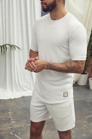 Cream Broad Street Slim Fit T-Shirt - P r é v u . S t u d i o .