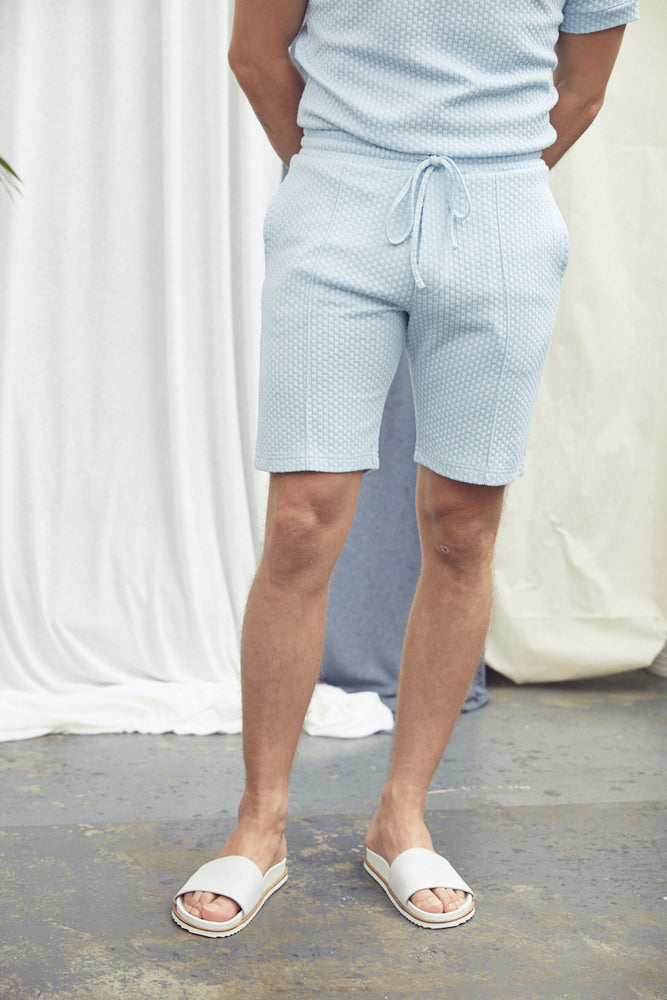 Light Blue Artisan Shorts - P r é v u . S t u d i o .