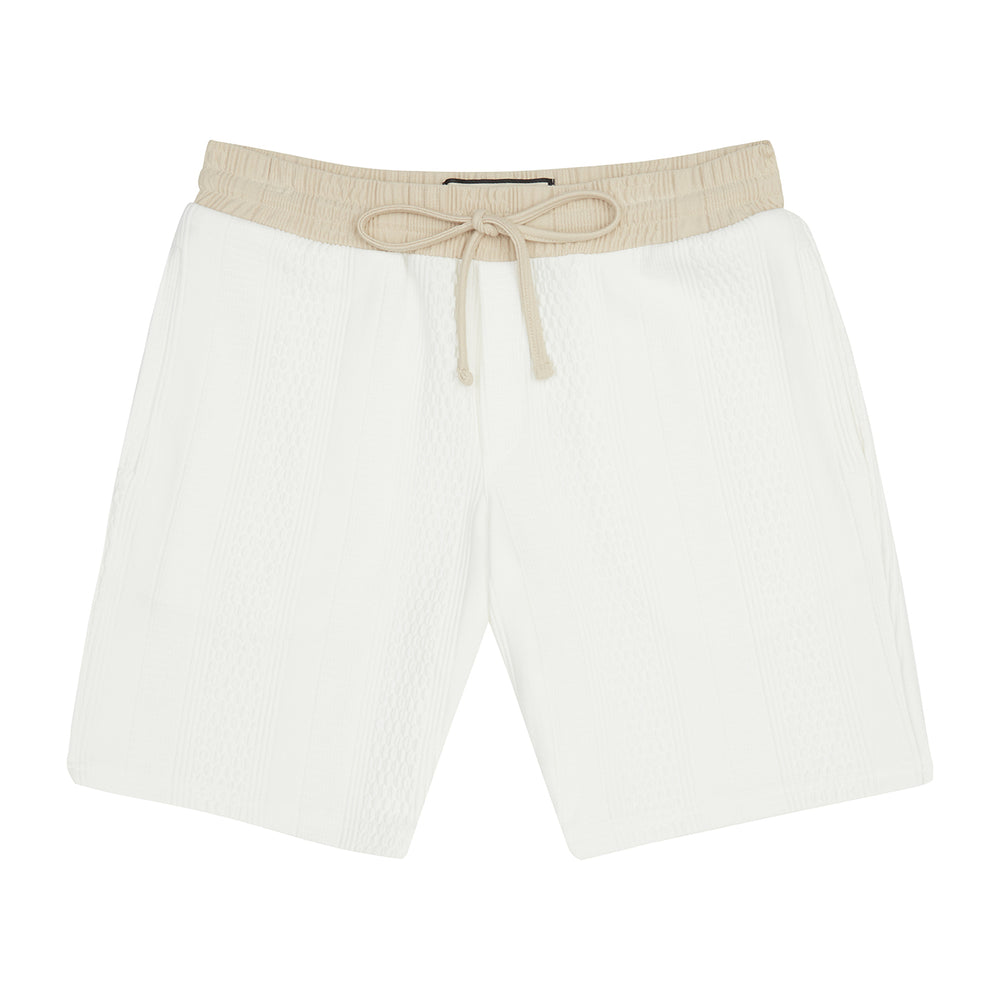 Cream Broad Street Contrast Shorts