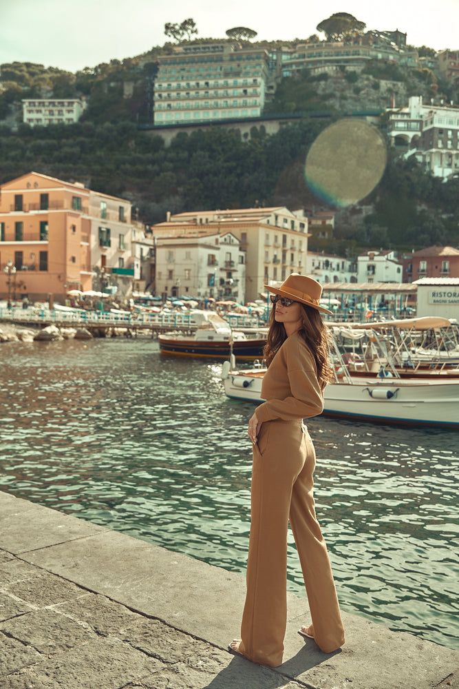 Women's Tan Insigne Trousers